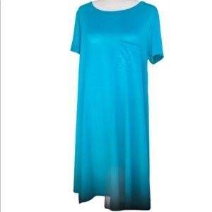 LulaRoe Carly NWOT's xl turquoise